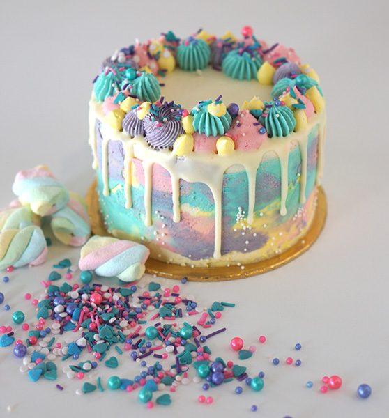 Astonishing Rainbow Cake Little Collins Cakery Cafe Personalised Birthday Cards Xaembasilily Jamesorg